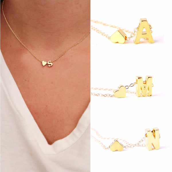 AC Initial Heart Necklace