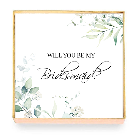 Will You Be My Bridesmaid? Card with Box