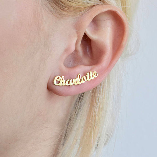 Custom Name Earrings