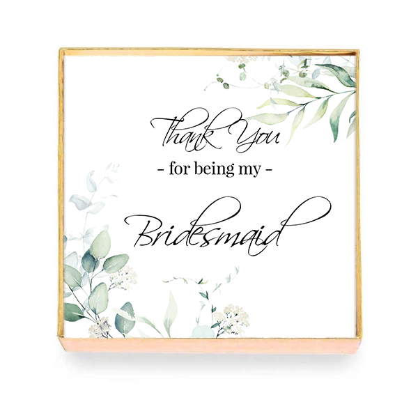 Thank You Bridesmaid Card with Box