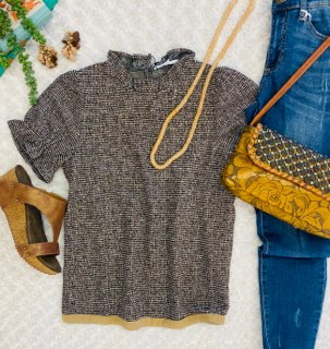 BROWNIE BROWN KNIT TOP