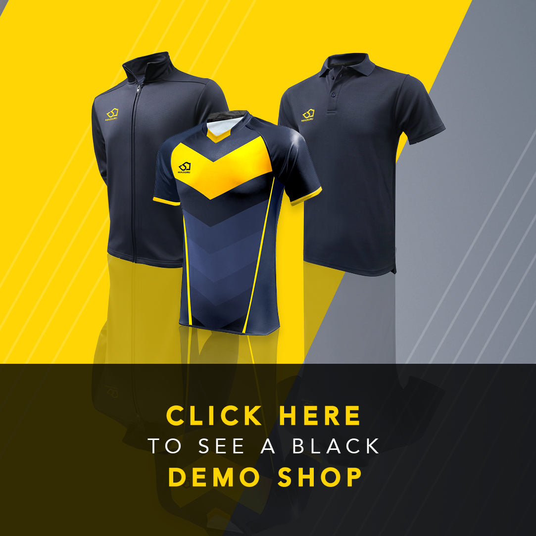 Black demonstration cricket shop