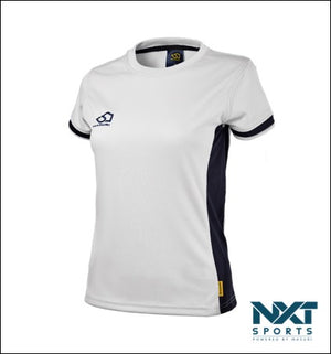 LADIES TRAINING T-SHIRT (WHITE/BLACK)