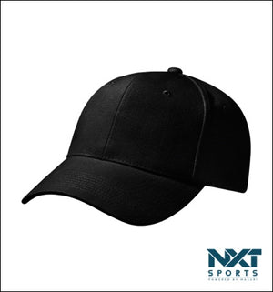 COTTON DRILL CAP (BLACK)