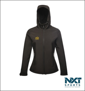 LADIES SOFTSHELL JACKET (BLACK)