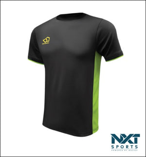 MENS TRAINING T-SHIRT (BLACK/LIME)