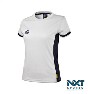 LADIES TRAINING T-SHIRT (WHITE/NAVY)