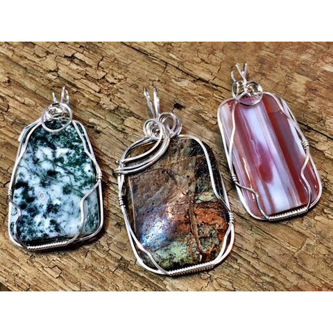January 13, 1-3 pm Wire Wrapped Pendant Class