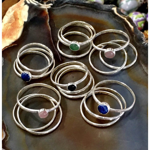 January 14 12:30-3:30pm Sterling Silver Stacking Rings