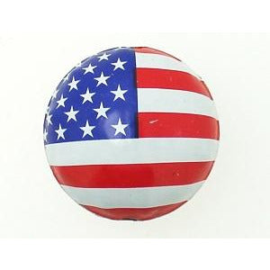 Flag bottle cap bead