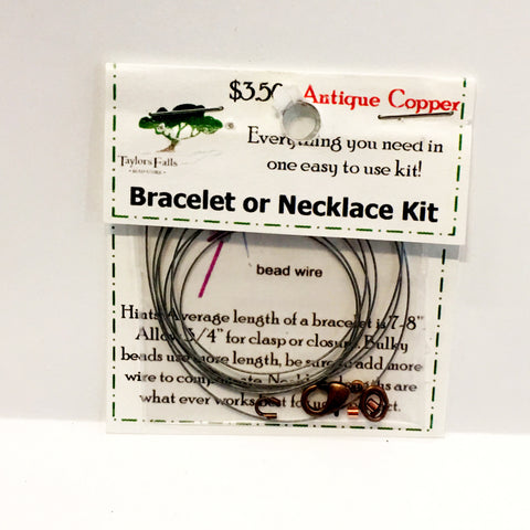 Antique copper bracelet or necklace kit
