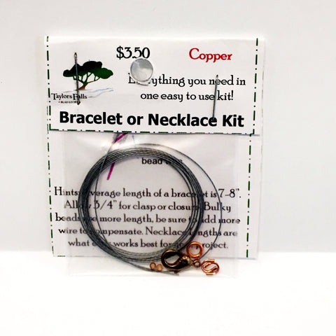 Copper bracelet or necklace kit