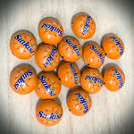 Orange Sunkist Bottle cap bead
