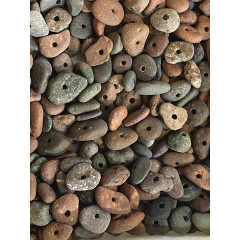 Small Lake Superior beach stone bead