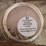 21 gauge SQUARE non tarnish bright silver wire