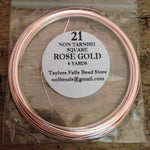 21 gauge SQUARE non tarnish rose gold wire