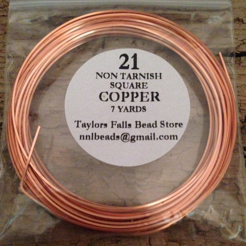 21 gauge SQUARE non tarnish copper wire