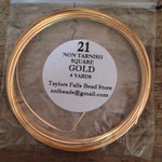21 gauge SQUARE non tarnish gold wire