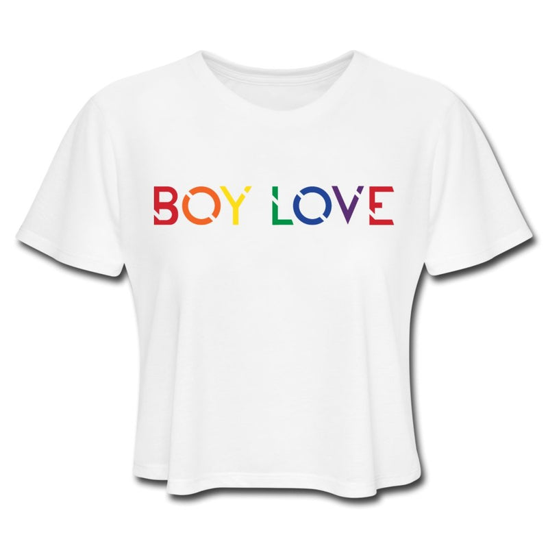 Boy Love Crop Top - white