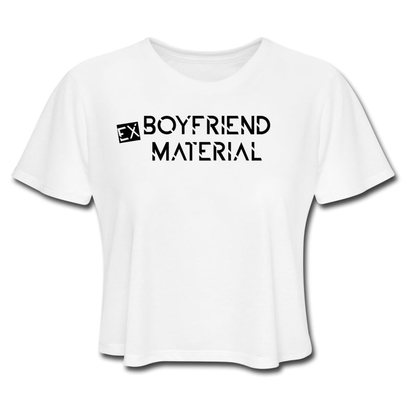 Ex Boyfriend Material, Crop Top - white