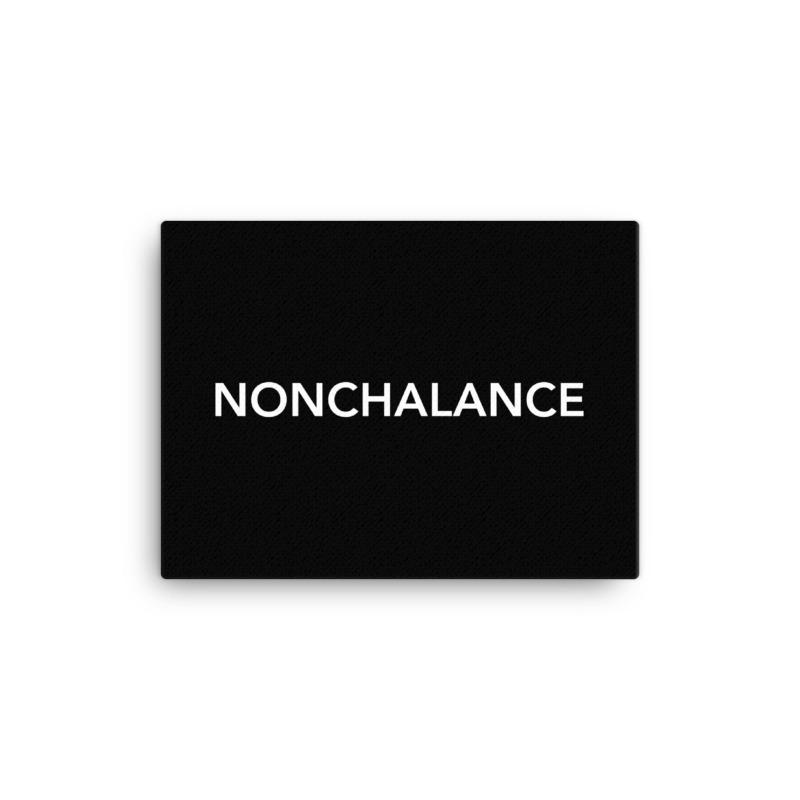 Nonchalance, Wall Canvas - Soap Dropper