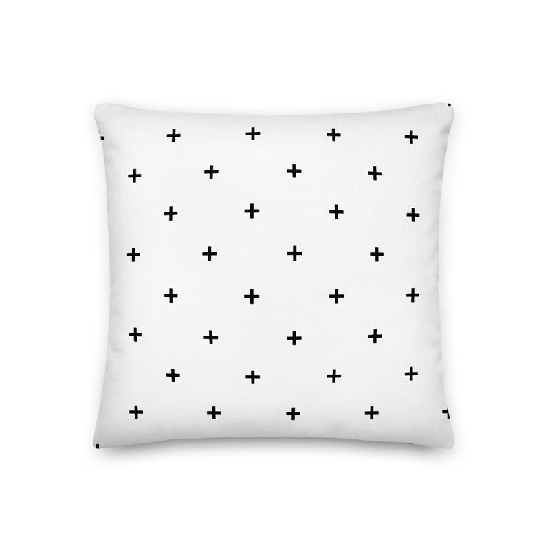 Positive Vibe, White Pillow + Cover