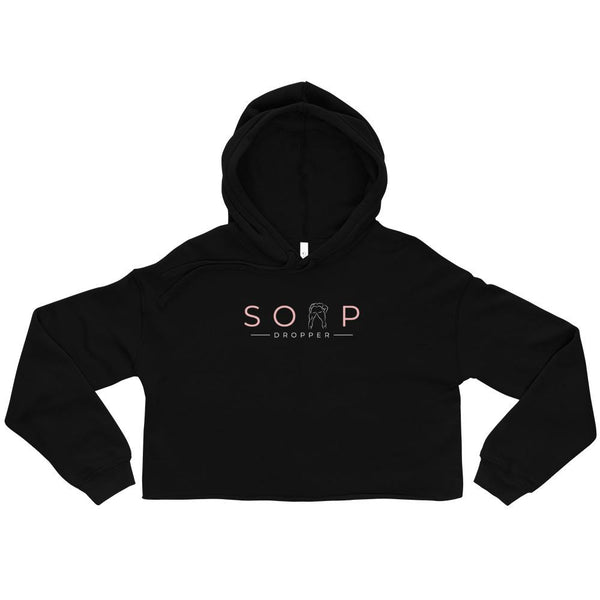 Soap Dropper Logo, Crop Hoodie - Soap Dropper
