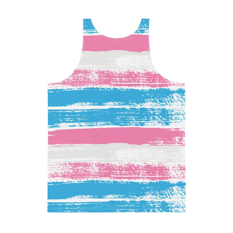 Transgender Pride Flag, Relaxed Tank - Soap Dropper