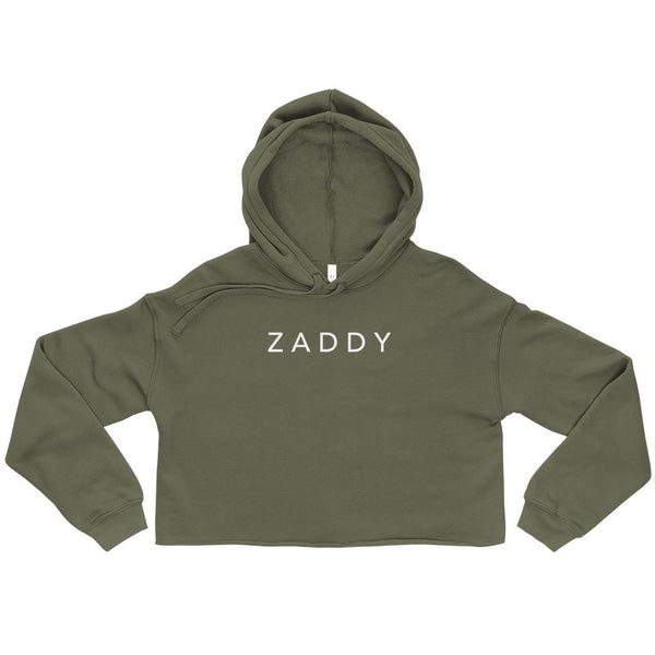 Zaddy, Crop Hoodie - Soap Dropper
