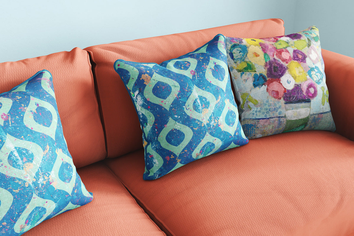 Seabreeze and Colors in The Air throw pillows
