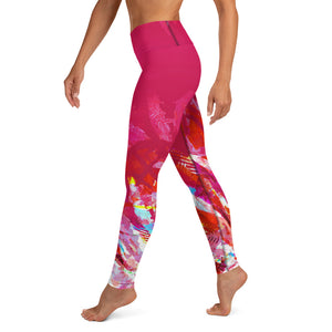 Palmetto Blush - Yoga Leggings