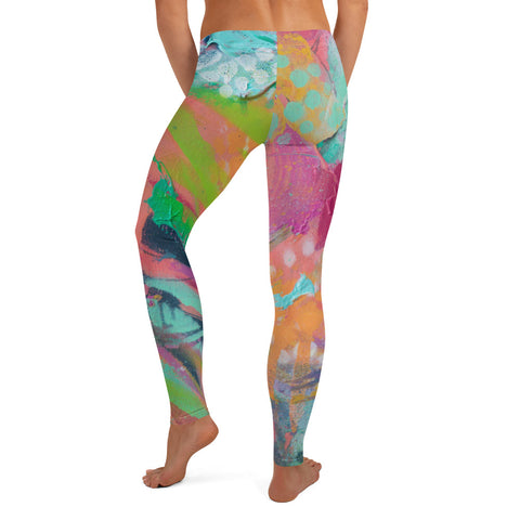 Floral Abstract - Leggings