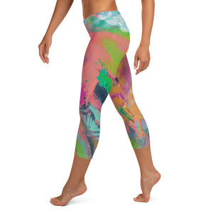 Floral Abstract - Capris