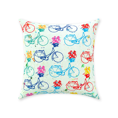Bike Race - Throw Pillows