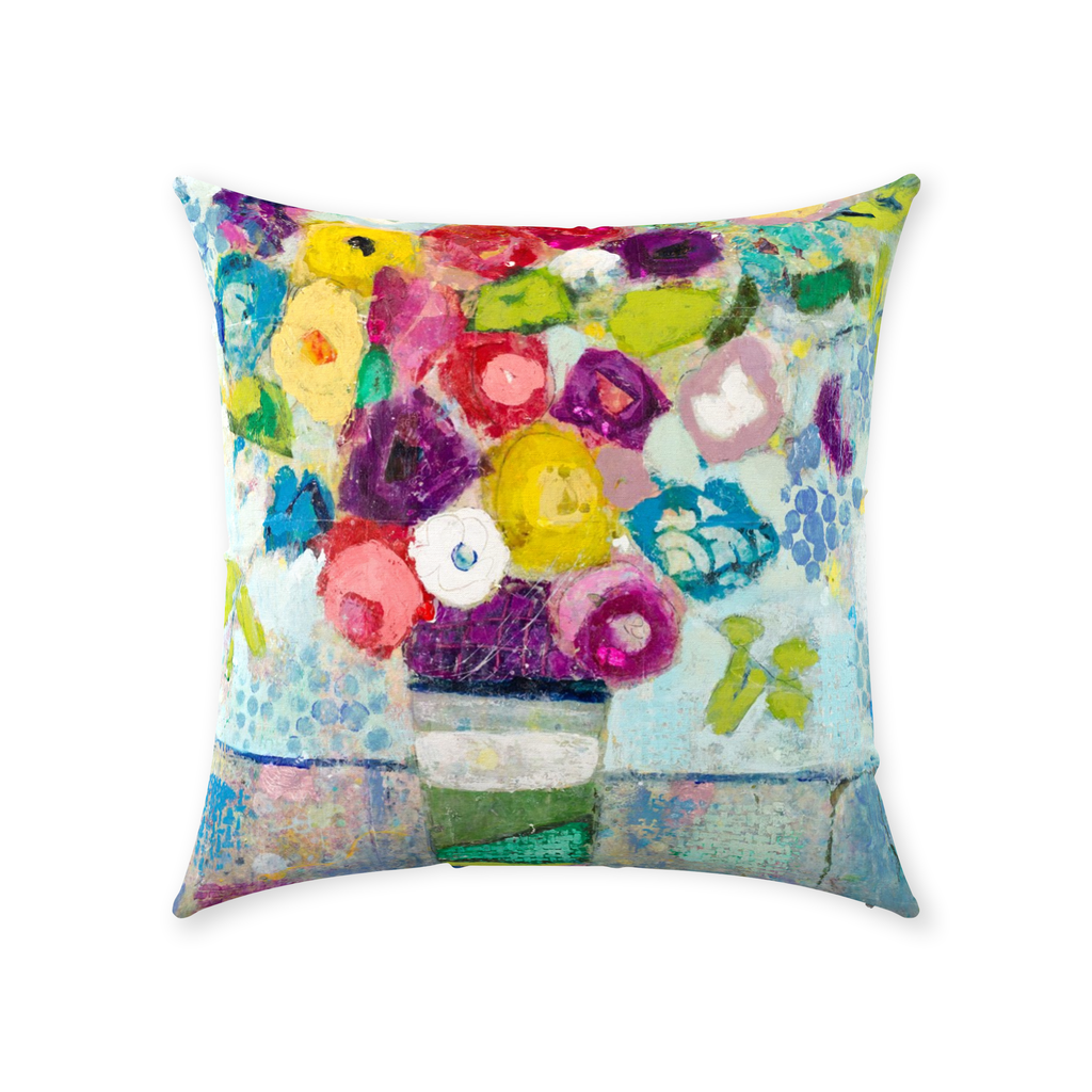 Colors In The Air - Throw Pillows