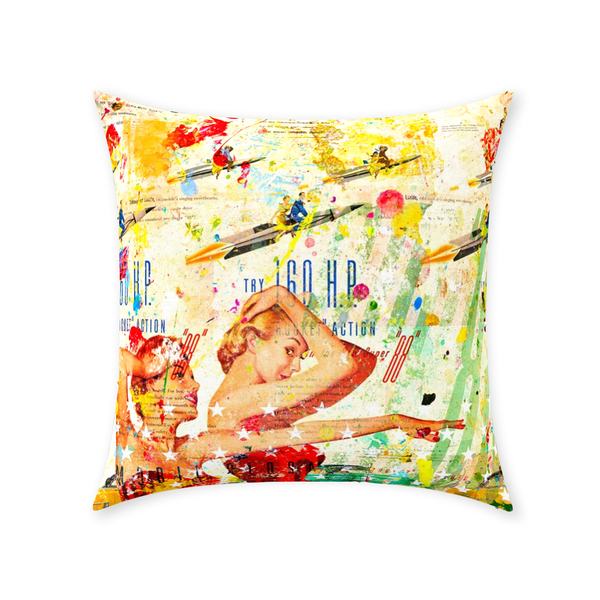 Rocket - Throw Pillows