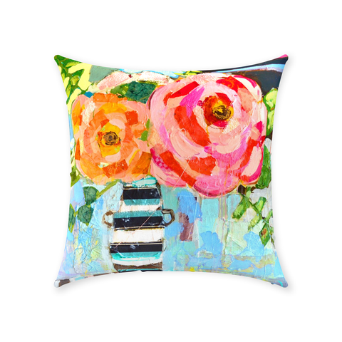 Stripes & Roses - Throw Pillows