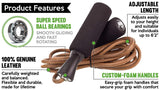 Jump Rope :: Skipping Ropes for Workout and Speed Skip Training :: Best Jumping Rope for Cardio Fitness Exercise