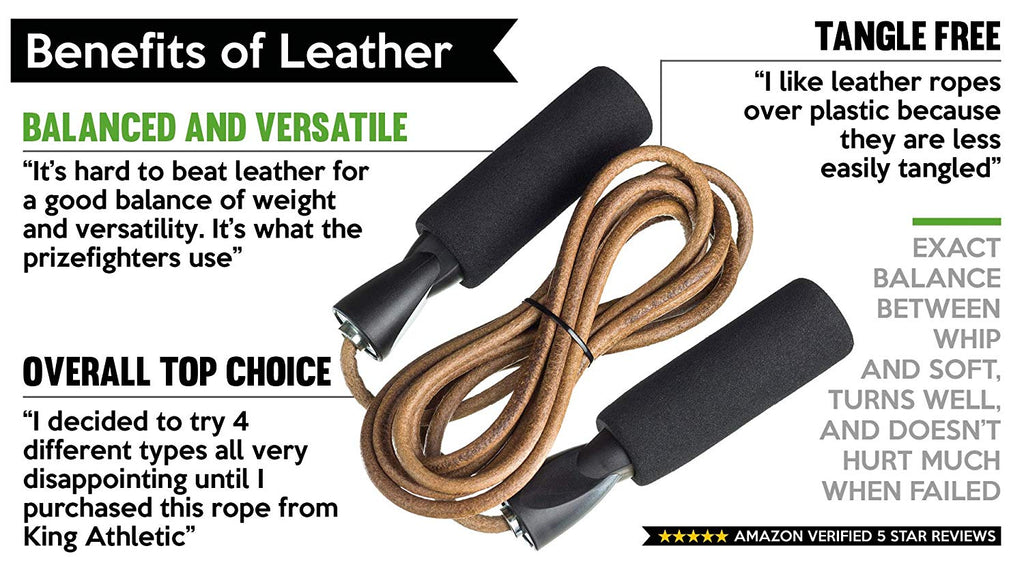 Boxing Skipping Rope Quality Leather Gym Adjustable Weighted Jump Speed Ropes