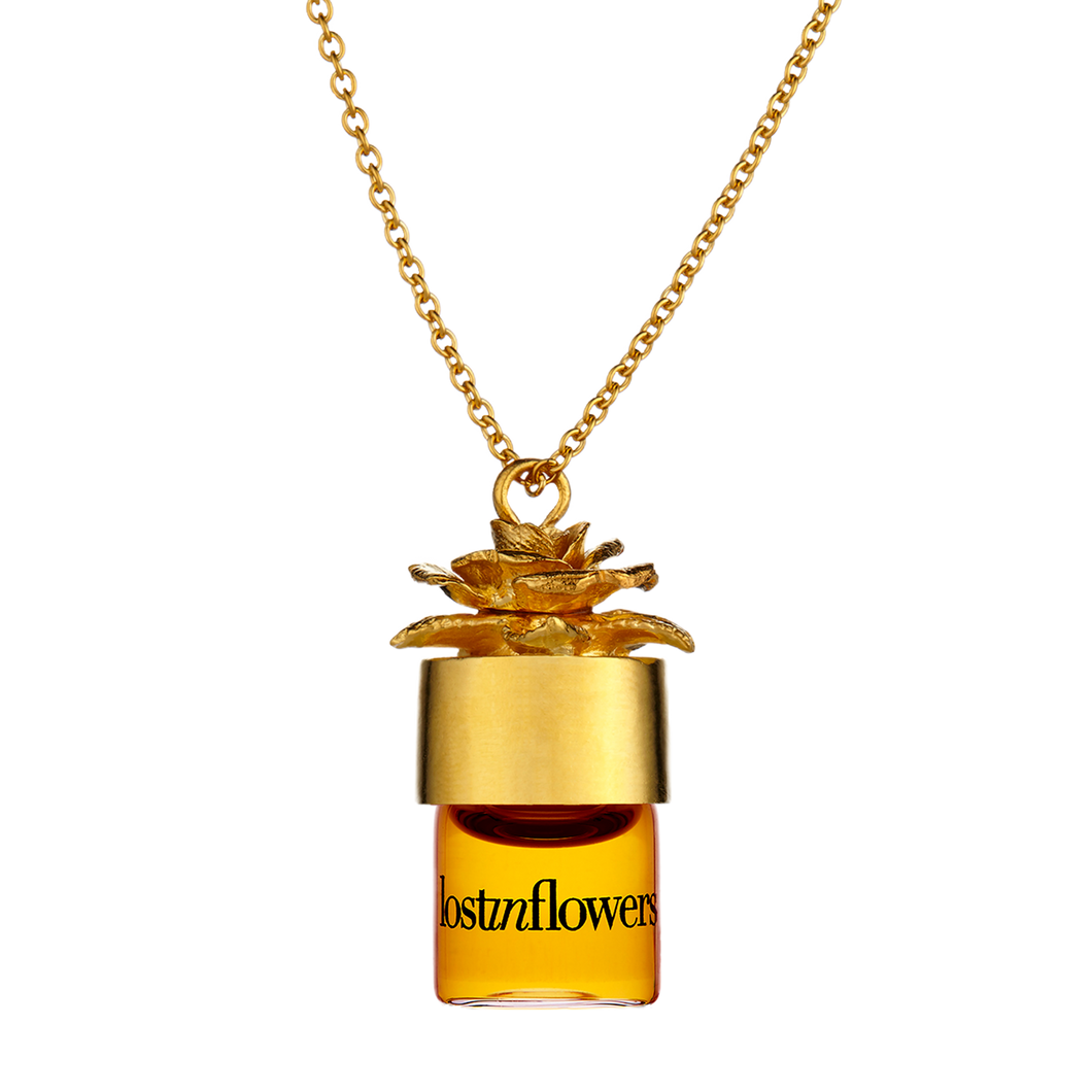 "lostinflowers 1.25ml pure perfume oil 24"" necklace"