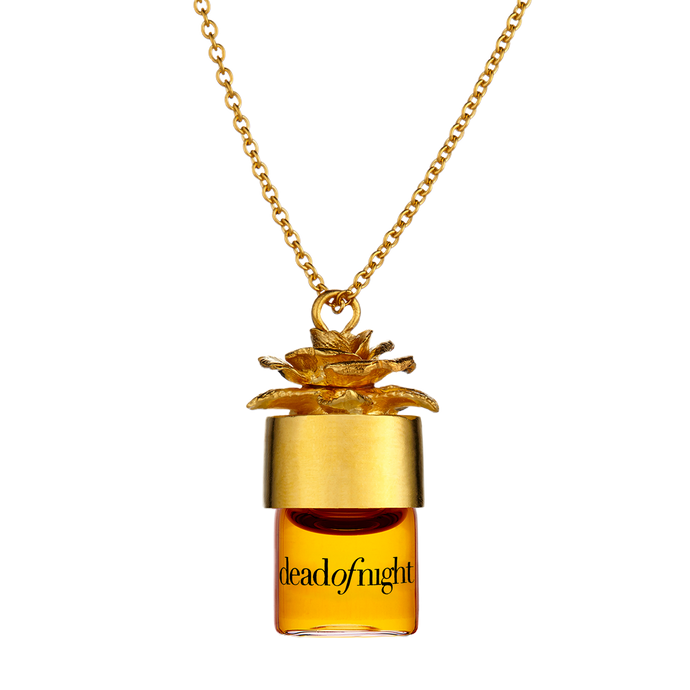 "deadofnight 1.25ml pure perfume oil 24"" necklace"