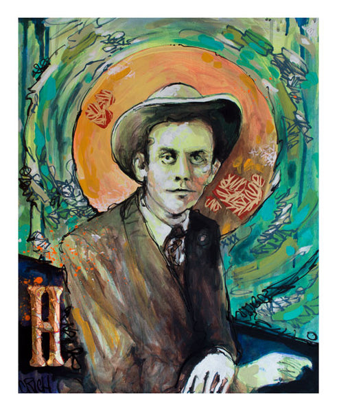 Clarence Rich - HANK WILLIAMS -  Hologram print