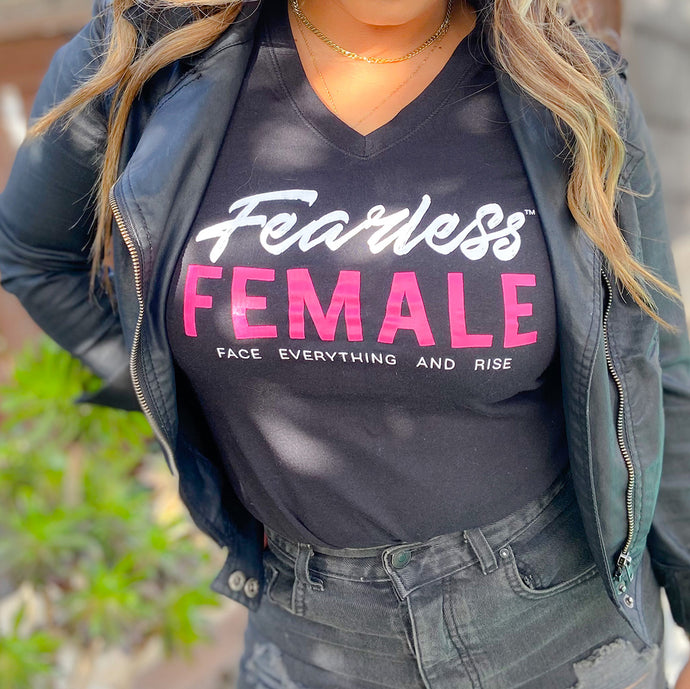 Fearless Female Black Tee