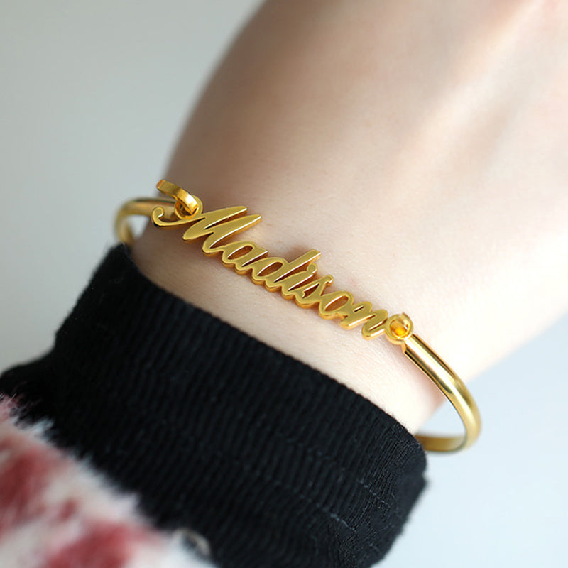Personalized Bangle Bracelet - Personalized Jewellery