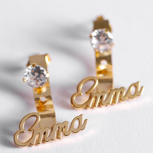 Personalized Literatum Name Earrings - Personalized Jewellery