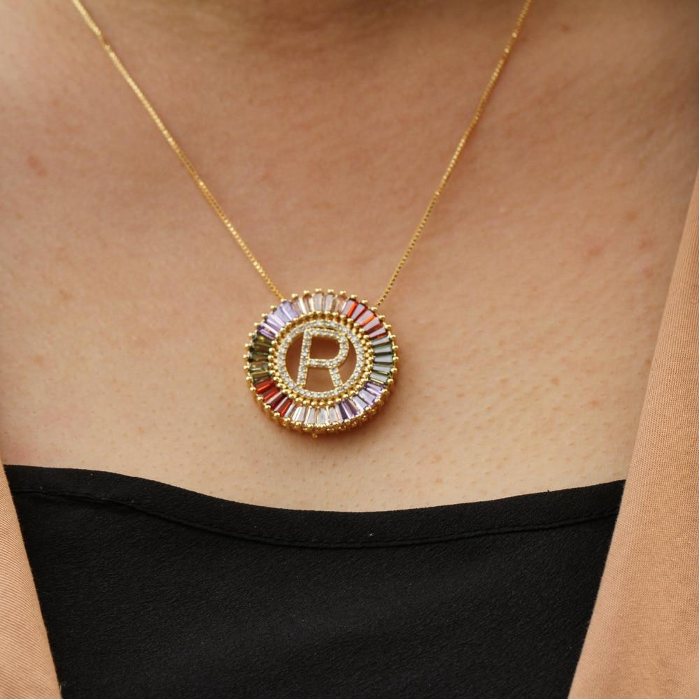 Zircon Initial Necklace - Personalized Jewellery