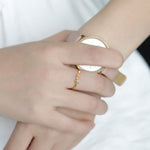 Initial Batu Ring - Personalized Jewellery