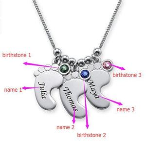 Baby Foot Necklaces - Personalized Jewellery
