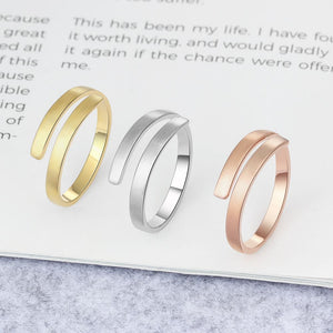 Personalized Adjustable Engraved Name Ring - Personalized Jewellery