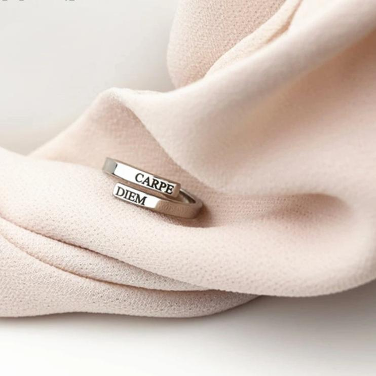 Engraved Two Names Ring - Personalized Jewellery